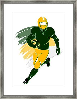 Packers Shadow Player2 Framed Print