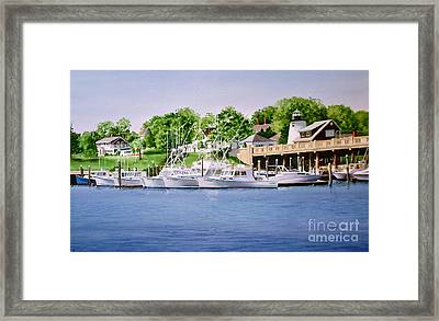Packet Landing Framed Print