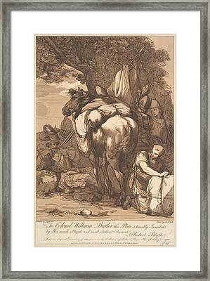Packhorse With Soldiers Framed Print