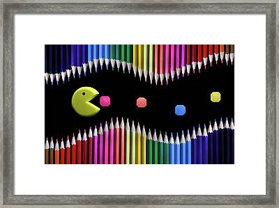 Packman Framed Print