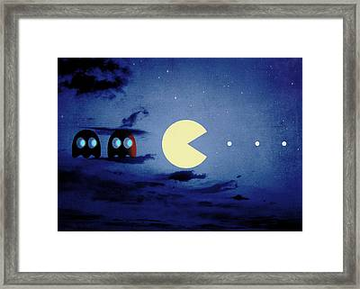 Pacman Night-scape Framed Print