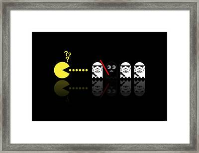 Pacman Star Wars - 1 Framed Print