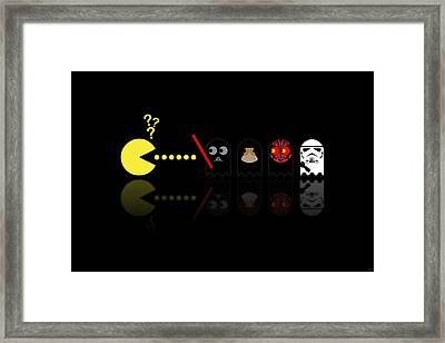 Pacman Star Wars - 2 Framed Print