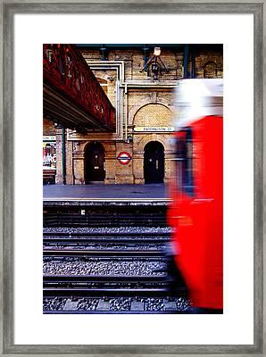 Paddington Station Tube Framed Print