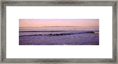 Paddle-boarder In Sea, Santa Rosa Framed Print by Panoramic Images