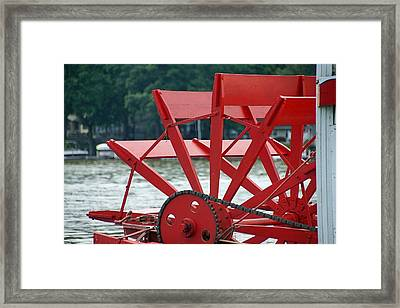 Paddle Boat Framed Print by Thomas Fouch