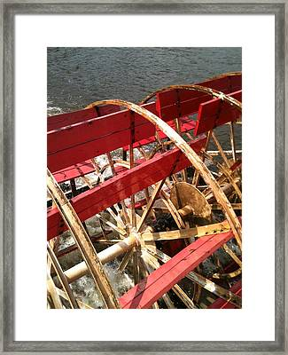 Paddle Boat Framed Print by Tina Nies