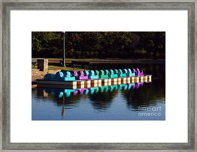 Framed Print featuring the digital art Paddle Boats by Kelvin Booker