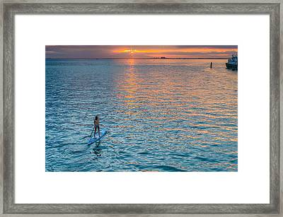 Paddle Girl Framed Print by Jonathan Gewirtz