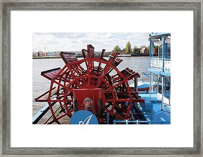 Paddle Steamer Framed Print