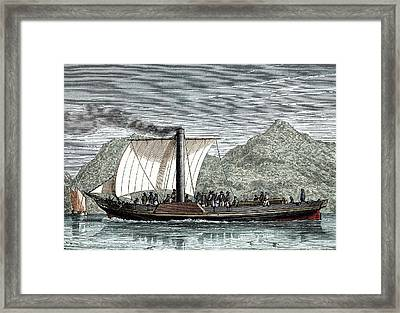 Paddle-steamer Ps Comet Framed Print