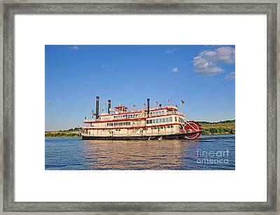 Paddle Wheel Boat Framed Print