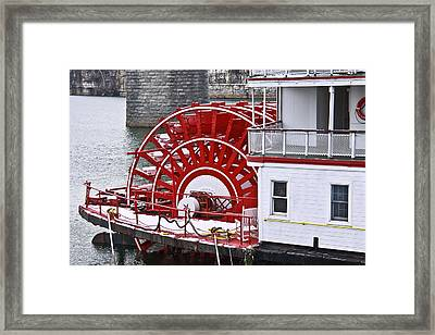 Paddle Wheel Framed Print by Tom and Pat Cory