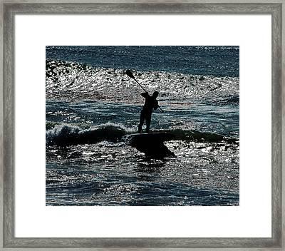 Paddleboard Dreams Framed Print by Joe Schofield