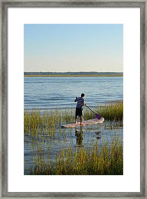 Paddleboarder Framed Print by Margaret Palmer