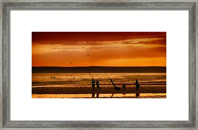 Paddlers And Anglers Framed Print