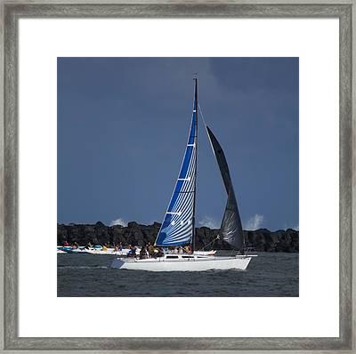 Paddling And Sailing Framed Print