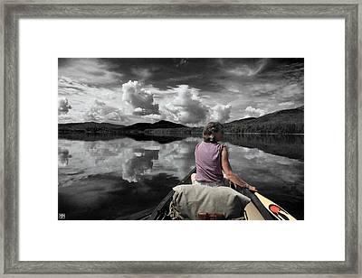 Paddling Attean Pond Framed Print