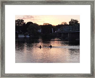Paddling For Home Framed Print