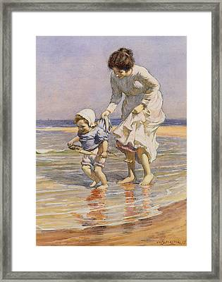Paddling Framed Print by William Kay Blacklock