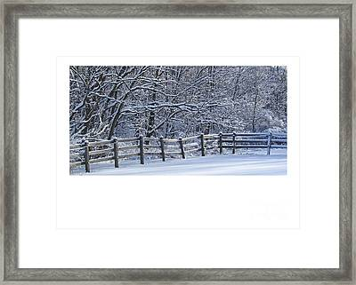 Paddock In Blue Framed Print by Deborah Johnson