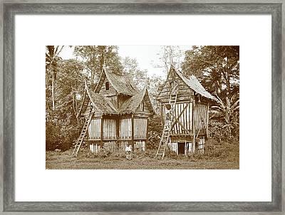 Padi Sheds Batipoeh, Christiaan Benjamin Nieuwenhuis Framed Print