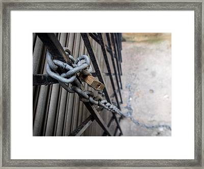 Padlock And Chain Framed Print by Kaleidoscopik Photography