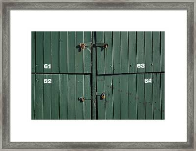 Padlocks Framed Print by Les Cunliffe