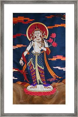 Padmapani Framed Print by Leslie Rinchen-Wongmo