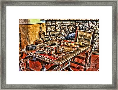 Padre's Table By Diana Sainz Framed Print