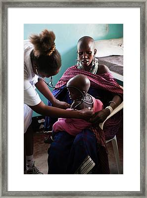 Paediatric Check-up Framed Print