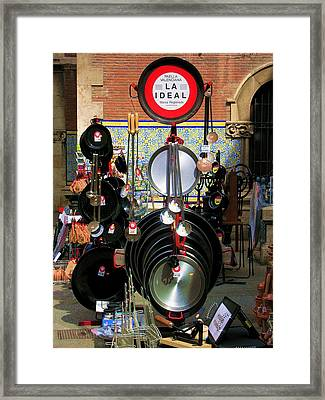 Paella Valenciana Cookware Framed Print by Jacqueline M Lewis