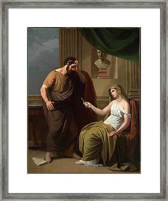 Paetus And Arria Non Dolet, Paetus And Arria Non Dolet Die Framed Print by Litz Collection