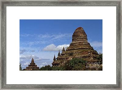 Pagan Burma Stupa Framed Print by Scott Shaw