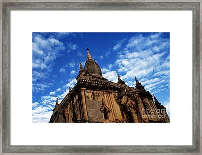 Pagan Burma Temple Framed Print by Scott Shaw
