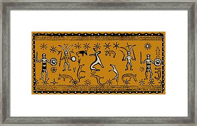 Pagan Rituals Framed Print by Vagabond Folk Art - Virginia Vivier