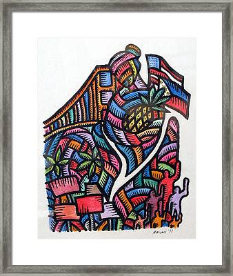 Pagaruga At Piketlayn Caregiving And Picketlines Framed Print