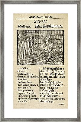 Page From 'orbis Sensualium Pictus' Framed Print