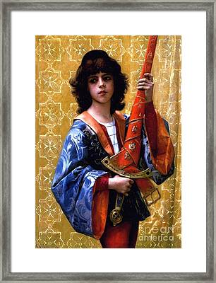 Page In Florentine Garb Framed Print by Pg Reproductions
