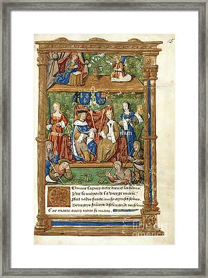 Pageant At The Palais Royal Framed Print by British Library