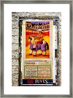 Pageant Of The Bulls Framed Print