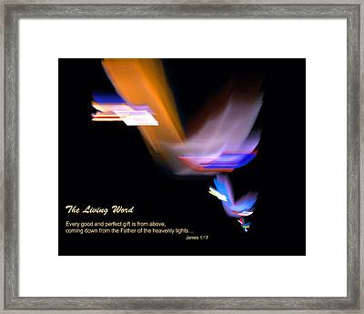Framed Print featuring the digital art Pages From Heaven by R Thomas Brass