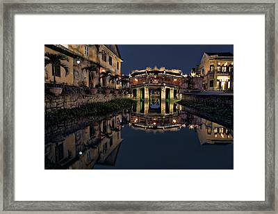 Pagoda Bridge Framed Print