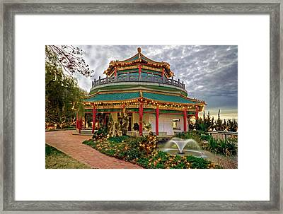 Pagoda In Norfolk Virginia Framed Print