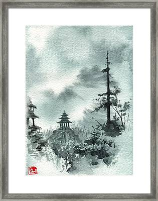 Pagoda Valley Framed Print by Sean Seal