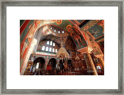 Pagrati Athens Church Interior 4 Framed Print
