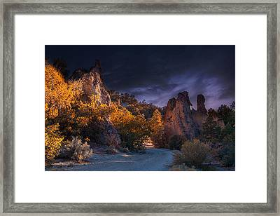 Framed Print featuring the photograph Pahrump - Road To Wheeler Peak by Gunter Nezhoda