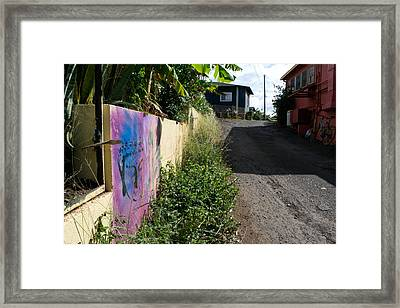 Paia Alleyway Framed Print by Matt Radcliffe