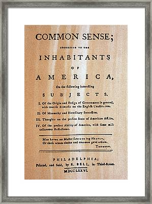 Paine: Common Sense, 1776 Framed Print by Granger