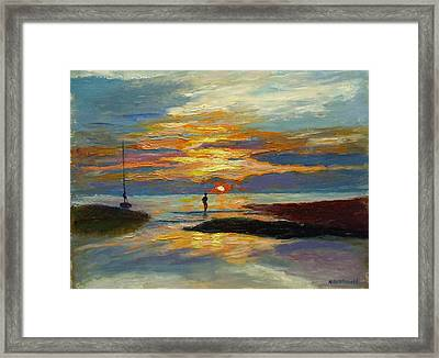Paines Creek Sunset Framed Print